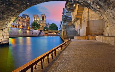 cathedral-river-boulevard-france-dame-twilight-Paris