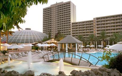 Exterior-view-from-main-outdoor-swimming-pools---Rodos-Palace-Hotel